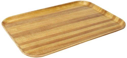 "Carlisle 4532WFG063 Fiberglass Glasteel Wood Grain Euronorm Tray, 17.72"" x 12.60"", Pecan (Case of 12)"