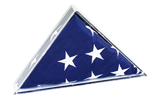 Deluxe Clear Acrylic American Flag Memorabilia Display Case