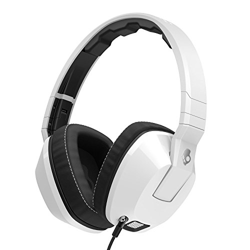 41%2BHNB6CprL - Skullcandy Crusher Headphones with Built-in Amplifier and Mic, White