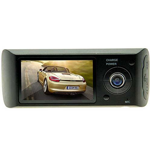 Double Camera Vehicle Camcorder Recorder 2.7in LCD Car DVR GPS G-Sensor R300 (R300 Gps)