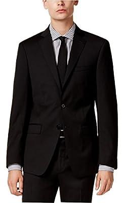 Calvin Klein Extreme Slim Fit Black Herringbone Two Button New Men's Sport Coat