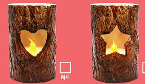 (THEA HOME LED Flameless Bark Candles,Pack of 2,Special Candles for Christmas and)