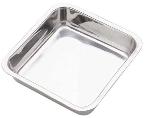 Norpro 8 SQUARE PAN Stainless Steel Cake Brownie Cornbread Desserts Handwashing