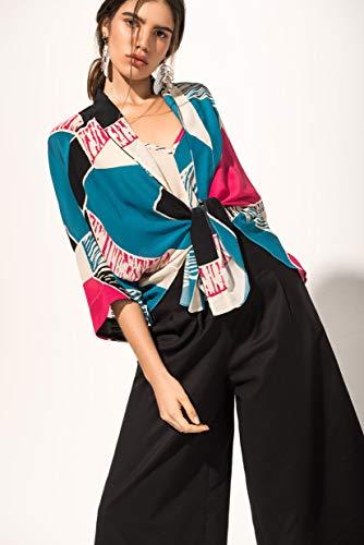 Kimono Curto Seda Trapézio