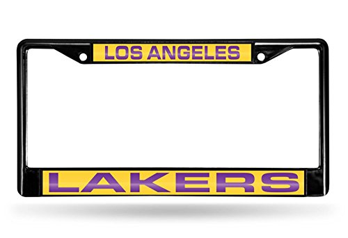 - Rico Industries NBA Los Angeles Lakers Laser Cut Inlaid Standard Chrome License Plate Frame, 6