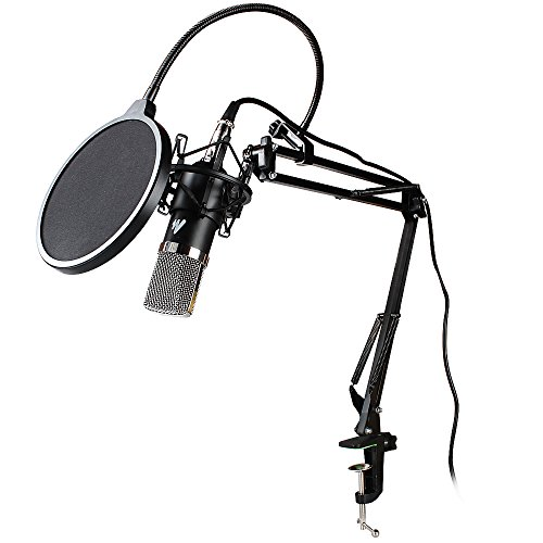 MAONO AU-A03 Condenser Microphone Kit Podcast Mic with Boom Arm Microphone Stand, Shock Mount, Pop Filter for Koraoke, Skype, YouTube Recording by MAONO