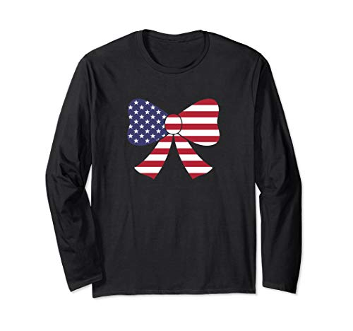 Bow Tie American Flag USA Long Sleeve - Apparel American Tie