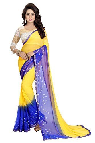 Ruchi Mart Wedding Designer Bollywood Chiffon Saree Party Wear Indian Pakistani Women (Designer Chiffon Sarees)