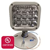 LFI Lights - UL Certified - 3.6V Single LED Remote Head Emergency Light - Wet Location - RHBWPL1