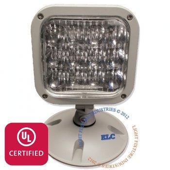 LFI Lights - UL Certified - 3.6V Single LED Remote Head Emergency Light - Wet Location - RHBWPL1
