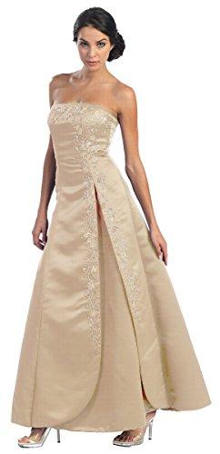 A Brautkleid XXL Linie Gold Ballkleider Corsagenkleid elegant Abendkleid lang qIAfOX