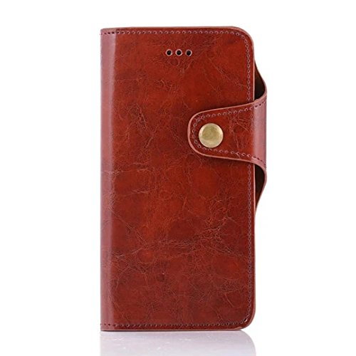 Price comparison product image For iPhone 7 Plus,GBSELL New Retro Wallet Flip Leather Phone Case Cover For iPhone7 Plus 5.5 Inch (Brown)