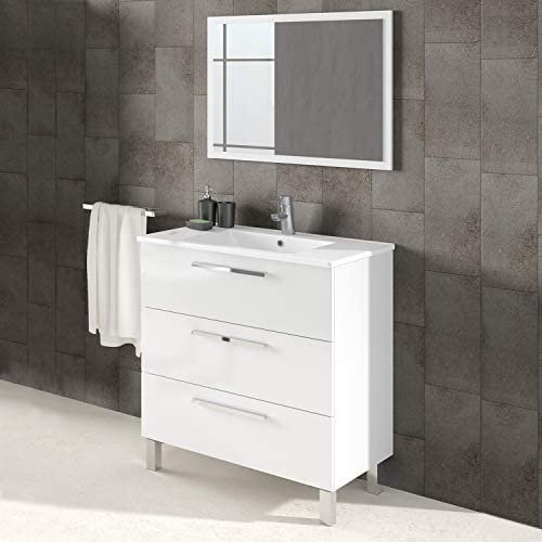 ARKITMOBEL 305423BO - Mueble de baño Athena 3 cajones y Espejo ...