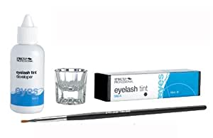 Eye Lash / Brow Tinting Dye Kit - Tint, Developer, Brush & Dish (Black Tint) by Strictly Professional