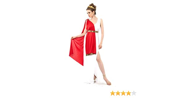 Vegaoo - Disfraz de Diosa Romana Toga roja para Mujer - M: Amazon ...