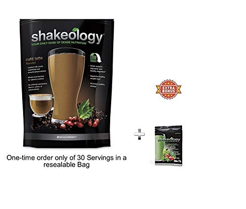 Shake 30 Servings (Bulk) in a Bag 2.38LBS +Extra Bonus greenberry Pack 1.25oz for Free (Cafe Latte)