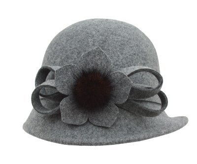 Syksdy Autumn and Winter Lady New Fisherman Hat Beret Mao Xianmao Light Grey