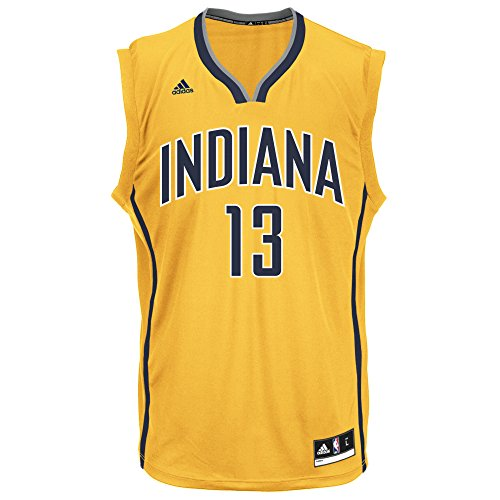 NBA Men's Indiana Pacers Paul George Replica Player Alternate Flex Jersey, X-Large, Yellow (Jersey Alternate Pacers)