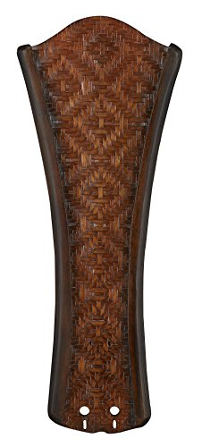 Fanimation B5270WA Concave Carved Blade with Woven Bamboo, 22-Inch, Walnut