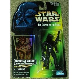 Star Wars Death Star Gunner with Imperial Blaster and Assault Rifle Power of the Force Green (Imperial Blaster Rifle)