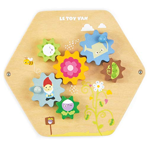 Le Toy Van – Wooden Educational Petilou Spin The Cogs Activity Tile | Baby Sensory Montessori Toddler Learning Toy…