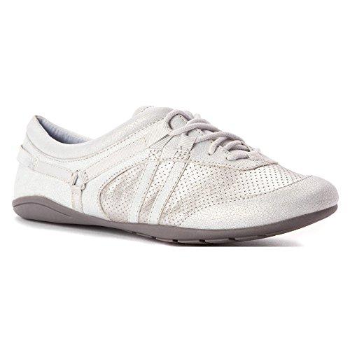 Adrienne Vittadini Footwear Women's Dizi Fashion Sneaker, Silver, 6 M US