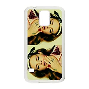 Wlicke Lana Del Rey Customized Durable samsung galaxy s5 i9600 Case, New Style Protective Phone Case for samsung galaxy s5 i9600 with Lana Del Rey