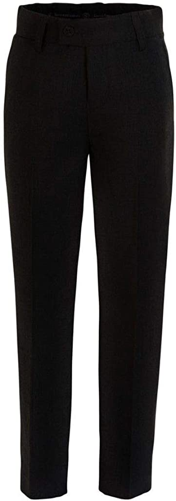 RGM Boys Dress Pants Flat-Front Slim fit Dress Slacks 100/% Dacron