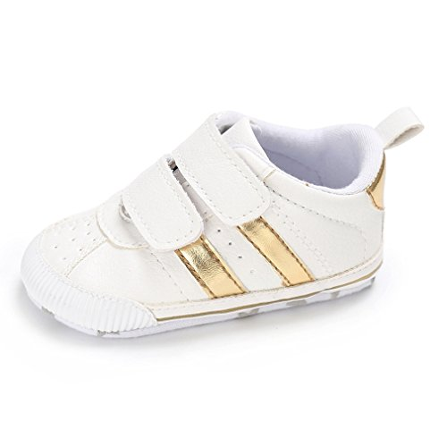 Toddler Baby Boys Girls Shoes 0-18 Months Slip-On PU Leather Crib Shoes Infant Walkers-by RVROVIC