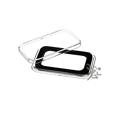 Air-Tite 1/2oz Silver Bar Black Ring Capsule Holders Qty: 3 (Ounce Coin Silver 0.5)