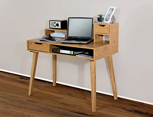 1194 - Schreibtisch Sekretär in verschiedenen Farben, mit massiven Füßen (wildeiche / eiche massiv)
