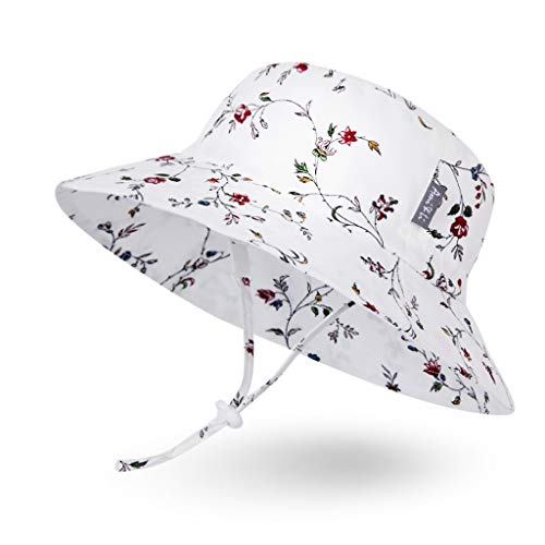 Girls Summer Hat - Ami&Li tots Adjustable Sunscreen Bucket Sun Protection Summer Hat for Baby Girl Boy Infant Kid Toddler Child UPF 50