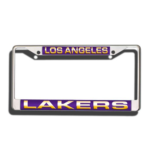 Rico Industries NBA Los Angeles Lakers Laser Cut Inlaid Standard Chrome License Plate Frame