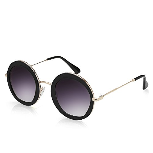 TWING Round Circle Fashion Designer Metal Sunglasses 10087 - Mens Summer Sunglasses