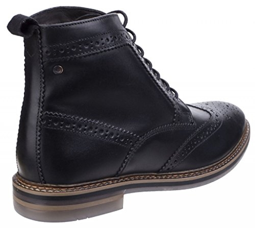 Mens Base Leather Boots Black Hurst London 55rB84qv