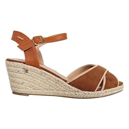 Chaussures compensées pour Femme MTNG 51847 TAN