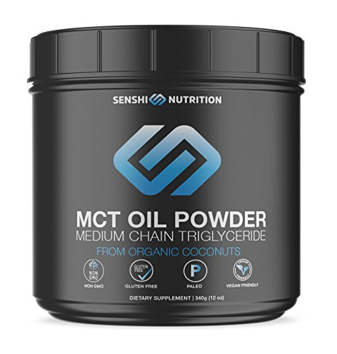 - Senshi MCT Oil Powder from Organic Coconuts - Keto Friendly Fat & Fiber Source for Energy, Fat Burn & Appetite Control - Easy to Digest - for Coffee, Smoothies and Shakes - Made in USA