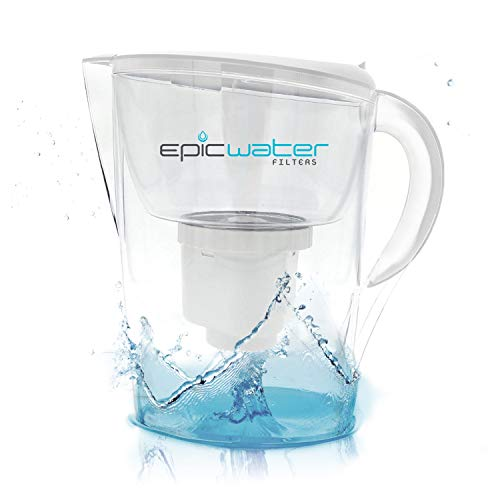 Epic Pure Water Filter Jug, Without BPA, Removes Fluoride, Lead, Chromium...