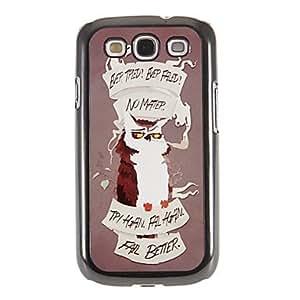 CL - Inspiring Owl Slogans Patrón Espejo Liso nuevo caso duro con HD de pantalla de Cine 3 piezas para Samsung S3 I9300