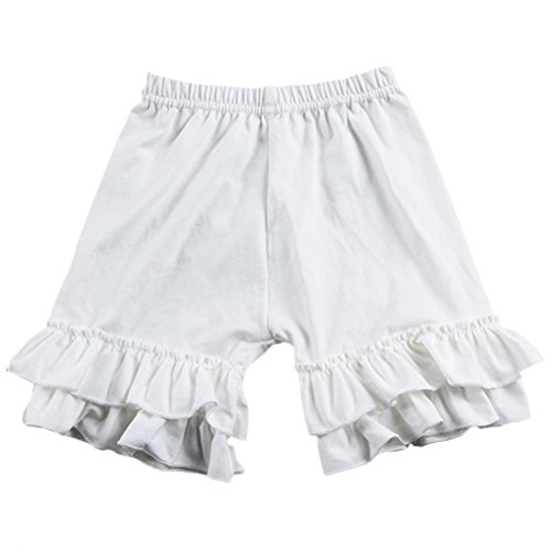 Ruffled Tights - IWEMEK Baby Girl Double Icing Ruffle Cotton Girl Shorts Bottom Pants Soft Activewear Slacks Boutique Leggings