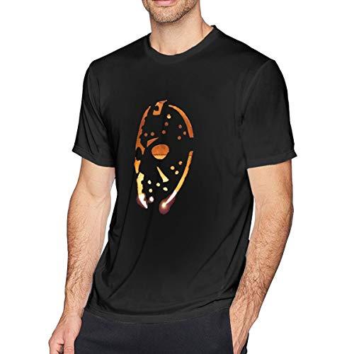 Houxiaojun The Many Moods of Jason Voorhees Mask Mens Cool Tee Black 3XL -