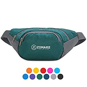 Fanny Pack Water Resistant Waist Bag,Lagre Capacity with Adjustable Strarp for Men and Women Waist Wallet Running Pouch Pack for Outdoors Workout Traveling Casual Running Hiking Green
