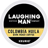 Laughing Man, Colombia Huila, Single-Serve Keurig K-Cup Pods, Dark Roast Coffee, 96 Count (6 Boxes of 16 Pods)