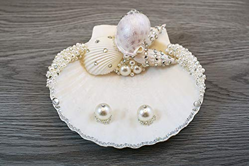 Amazoncom Shell Dish Beach Wedding Ring Bearer Pillow