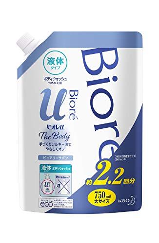 幅確かに名前で【大容量】 ビオレu ザ ボディ 〔 The Body 〕 液体タイプ ピュアリーサボンの香り つめかえ用 750ml 「高潤滑処方の手づくりシルキー泡」