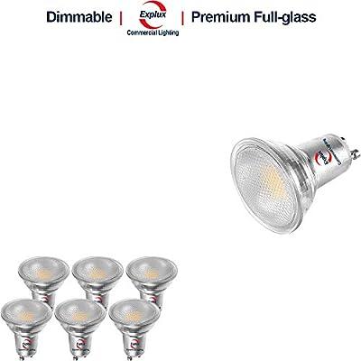 Explux Dimmable Full Glass GU10 LED Flood Light Bulbs