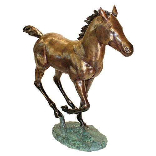 Design Toscano Galloping Horse Foal Cast Bronze Garden Statue