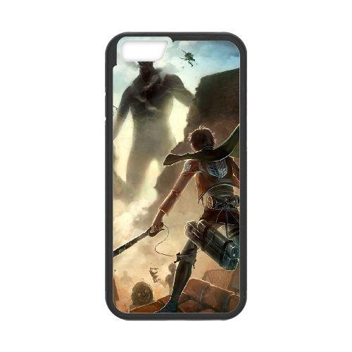 Attack On Titan coque iPhone 6 4.7 Inch Housse téléphone Noir de couverture de cas coque EBDOBCKCO13866