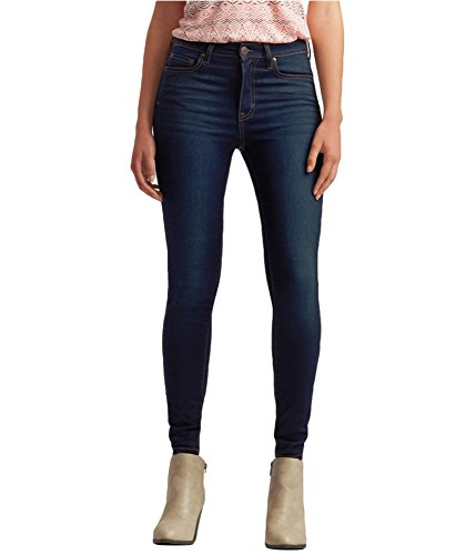 Aeropostale Womens High Waisted Jeggings, Blue, 0 Regular
