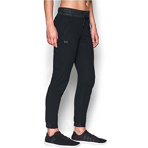 Under Armour Women's Leisure Pants, Black /Tonal, Medium